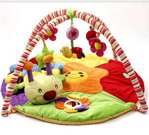 Baby play mat colourful game blanket with fitness rack crawling rugs educational toys activity carpet musical play gym mat