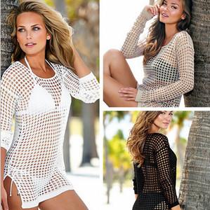 2015 nouvelles femmes sexy crochet maillot de bain maillot de bain bikini plage couvrir jusqu'à tricoter dentelle creusé maillots de bain plage porter robe mx