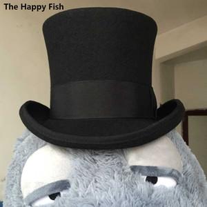 الجملة-Steampunk / جنون هات هات الأعلى ، الفيكتوري خمر الصوف التقليدية فيدورا قبعة / قبعة اسطوانة ، مدخنة وعاء قبعة 18.0 سم (7.1 بوصة)