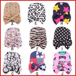 2016 Più Nuovo Modo 9 Colori Neonato neonato con grandi archi Lepoard Zebra Stare modello cappello caldo per l'inverno 9 colori scegliere libero