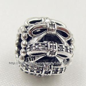 100% S925 Gümüş Pırıltılı Duygular Charm Boncuk ile Temizle Cz Avrupa Pandora Stil Takı Bilezikler Kolye Kolye Uyar
