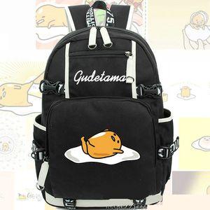 Gudetama Rucksack Lazy Egg Daypack Gebratene Omelette Schultasche Cartoon Rucksack Sport Schultasche Outdoor Daypack