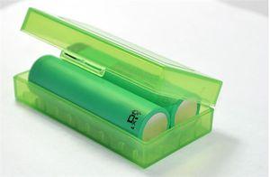 Contenitore di plastica portatile per batterie Contenitore di sicurezza per contenitori di stoccaggio 5 batterie di colori per 2 * 18650 o 4 * 18350 batteria agli ioni di litio e cig