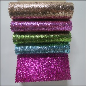 100m Chunky Glitter fabric Carta da parati Glitter wall Argento Shiny Chunky glitter Wallpaper per Living Room KTV wedding Decorativo in pelle pu