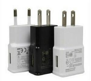 Para Samsung USB Wall Carregadores 5 V 2A CA Viagem Home Carregador Adaptador UE Plug para Samsung Galaxy Nota 5 S7 S6 Edge Plus Branco Black Color