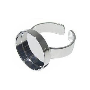 Beadsnice Modeschmuck einzigartiger Ring Entdeckungen mit 15mm Ring als Ausgangspunkt für Ihre Ringrohlinge diy ID10377