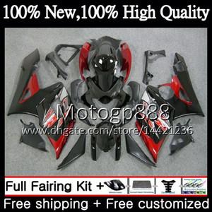 Carrozzeria Nuovo per SUZUKI GSX-R1000 GSXR-1000 K5 GSXR 1000 05 06 30PG16 GSX R1000 05 06 Carrozzeria GSXR1000 2005 2006 Carrozzeria rosso nero Carenatura