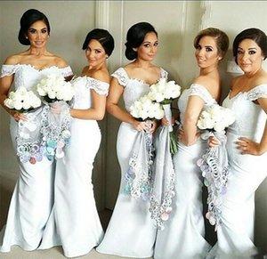 2019 Beyaz Fildişi Gelinlik Modelleri Düğün Için Kapalı Omuz Dantel Ve Saten Ucuz Gelinlik Modelleri Artı Boyutu Resmi Gelin Elbiseler
