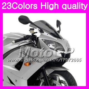 23Colores parabrisas para Triumph Daytona 600 03 04 05 Daytona600 Daytona 650 2003 2004 2005 Chrome Black GPear Smoke Windshield