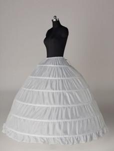 재고 있음 플러스 사이즈 볼 가운 6 후프 웨딩 신부의 페티코트 Crinoline의 언더웨어 웨딩 Petticoats