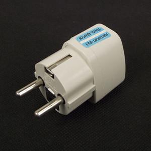 Высокое качество белый Универсальный 2 Pin Великобритании США AU к ЕС EURO Германия Сетевой адаптер Адаптер AC Power Plug Преобразовать Европейский