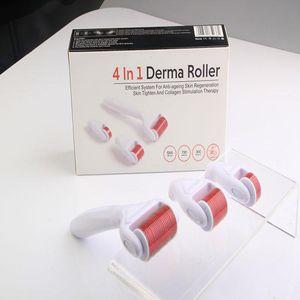 4 в 1 ролике ролика Derma нержавеющем/Titanium сплава игл DRS Derma с головкой 3(1200+720+300 иглы) набор ролика Derma для удаления угорь