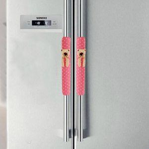 Wholesale-Hot marking 1Pair Doorknob Handle Cover Double-door Refrigerator Gloves O6