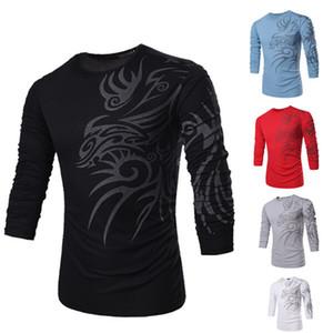 Wholesale-Fashion Brand 10 style long sleeve T Shirts for Men Novelty Dragon Printing Tattoo Male O-Neck T Shirts M-XXXL TX71&73 -2