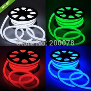 25 metro de luz de néon flexível macio tubo de luz de néon flex flexível tira corda 80 leds / m 110 V vermelho amarelo azul verde branco 120 v + Fedex frete grátis
