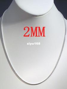 """Moda jóias por atacado 10 pcs 2 MM prata 925 selo cobra cadeia colar gargantilha 16 """"-24"""" Ch"""