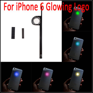 Para iPhone 6 Luminescent Glowing Logo LED Light Up Logo transparente Mod Kit Kit contraportada para iphone6 ​​4.7 pulgadas envío gratis