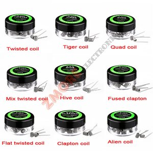 Clapton Wire Coils Flat Twisted Coil Alambre Vape Hiving Heating Wire Tiger Quad Mix Twisted Fusionado Clapton Alien Coil para Ecigs RDA