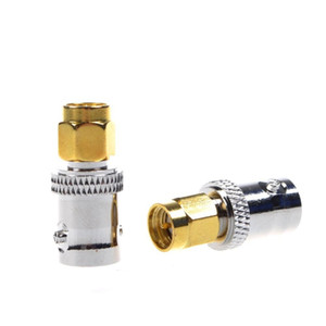 50 قطع النحاس bnc الإناث إلى الذهب مطلي sma ذكر التوصيل اقناع rf محوري اقناع هوائي محول