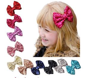 Çocuk şapkalar sequins firkete çocuklar Tokalarım Kız Kafa Saç Aksesuarları Saç Klipler Çiçek Kız Ilmek Wrap Şapkalar