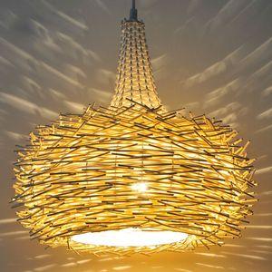 Lampada da tavolo pastorale Birdcage Birdcage Sala da pranzo American Village Bedroom Pendant Light Kitchen Balcony Pendant Lights