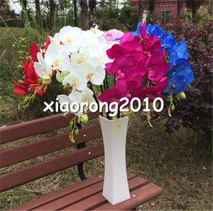"Seta Orchidee 10Pcs 100 centimetri / 39.37"" Fake stelo singolo Vanda Phalaenopsis Oncidium Phalaenopsis per casa di cerimonia nuziale artificiali fiori decorativi"