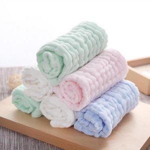 Wholesale- Soft Baby Newborn Towel 2pcs lot Infant Washcloth Bathing Feeding Wipe baby handkerchief face towels 26*26cm Handkerchief D3
