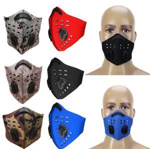 Deporte Muffle bucal a prueba de polvo Filtro de aire Máscaras Bicicleta Esquí Máscara anticontaminación Esquí Máscaras a prueba de polvo 17 Estilos OOA3712