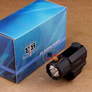 Caza de Cree Led linterna antorcha impermeable resistente a los golpes para pistola / pistola QD Weaver / Picatinny montaje en carril envío gratis