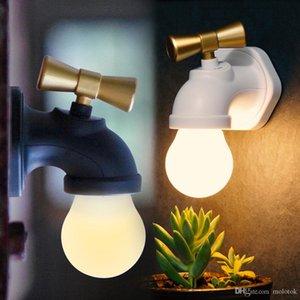 Wasserhahn Lampe einzigartige Form Sprachsteuerung Wiederaufladbare LED Antique Tap lange Nutzungszeit Nachtlicht Lampe Schlafzimmer veilleuse