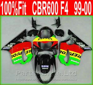 심플 스타일 Green Repsol Honda 페어링 용 바디 파트 CBR 600 F4 1999 2000 사출 성형 페어링 키트 CBR600 F4 99 00 D5FU
