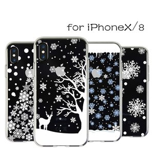 아이폰 x 7 8s 5 플러스 소프트 TPU 메리 크리스마스 커버 애플 케이스에 대 한 전화 케이스 릴리프 실리콘 겨울 전화 케이스 카파