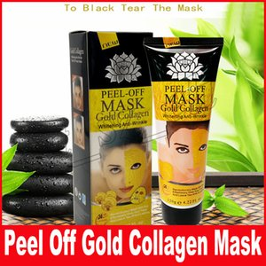 Altın Soyulabilir Yüz Maskesi Siyah Kristal Altın Kollajen Süt Siyah Nokta Remover Yüz Maskesi Cilt yüz Bakımı