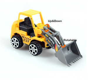 Mini Truck Engenharia Modelo Toy, Tractor pá, rolo de estrada, escavadora, Crusher, Timber Grab Machine, 6 Styles, para Xmas Kid Presente de aniversário