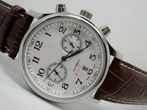 горячий продавать мужские часы механические автоматические часы для мужчин белый циферблат кожаный ремешок 2039