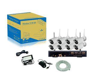 Система AmViewing 8-канальный сетевой видеорегистратор,водостотьким 960p HD с беспроводной IP-камеры+4-канальный 2.4 G беспроводной видеорегистратор.Наборы WiFi NVR С или без сети выполнимый.