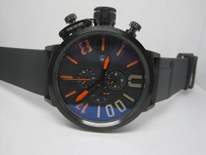 كبار رجال بيع الرياضة ووتش ذكر الساعات للرجل التلقائي حركة حزام مطاط حجم كبير 50MM U01