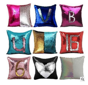 Christmas Decoration Pillow Case Mermaid Sequin Mermaid Pillow Cover Fashion Magic Cushion Cover Reversible Glitter Pillowslip Home 38 Style