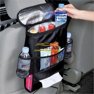 Assento de carro Voltar Multifuncional Viagem de bolso armazenamento saco Hanger Organizer Titular grande capacidade e fixo no banco de trás