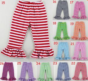 5 шт./лот модные девушки рябить бутик брюки в шевроны твердые полосы двойной рябить