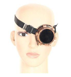 واحد العين steampunk تأثيري نظارات طبقة مزدوجة لحام وهج يندبروف مرآة الشرير خمر القوطي حملق 6 قطعة / الوحدة مجانية