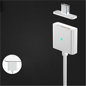 Carregador magnético cabo 1 M de carregamento rápido led de iluminação de metal micro usb sync cabo de dados para samsung s6 nota 5 android telefone