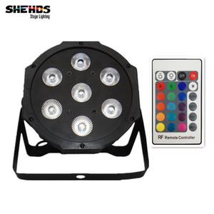 Telecomando senza fili LED Par 7x12W RGBW 4IN1 LED Wash Light Stage Uplighting luci del partito No rumore Telecomando Spedizione gratuita