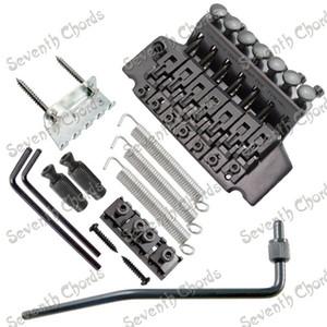 Ein Set Black 7 String Floyd Rose Tremolo Bridge Double Locking System für E-Gitarre. GITARRENTEILE