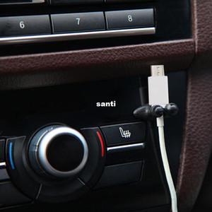 Neu kommen 8 teile / los multifunktionsklebstoff auto ladegerät linie spange klammer kopfhörer usb kabel auto clip innen zubehör