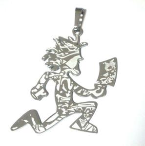 2 в гравюре HATCHETMAN CHARM Нержавеющая сталь, покрытая серебром КУЛОНА Новая с цепью ICP Insane Clown Posse Twiztid free