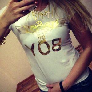 Оптовая 100% хлопок женские летние топы повседневная футболка с коротким рукавом золотой мальчик письмо печать футболки женские шорты тоторо FG1511