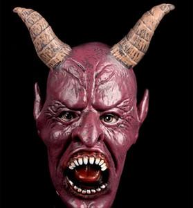 Maschera del diavolo della mucca Horn, maschere di Halloween di travestimento di gomma del lattice della maschera della maschera della maschera di inverno del raccapricciante Trasporto libero