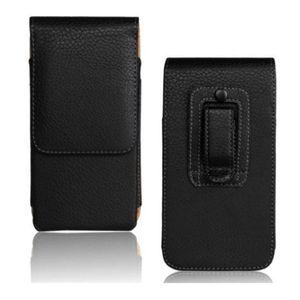 "1 UNIDS Moda Color Negro Cinturón Clip Funda Funda Funda para Huawei Ascend P8 5.2 ""Bolsa de Teléfono Inteligente"