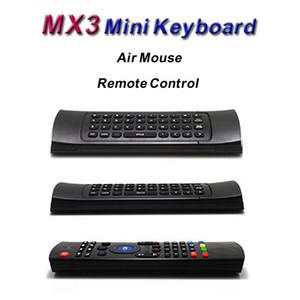 X8 Hava Fly Fare MX3 2.4GHz Kablosuz Klavye Android TV Box Smart için Mic olmadan Uzaktan Kumanda Somatosensoriyel IR Öğrenme 6 Eksen
